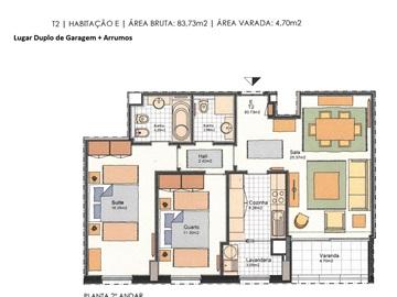 Apartamento T2 / Matosinhos, Sul