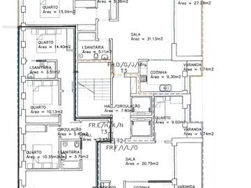 Apartamento T3 / Olhão, Olhão Baixa