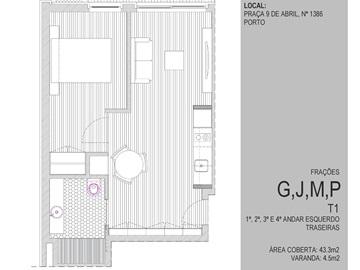 Apartamento/Piso T1 / Porto, Paranhos