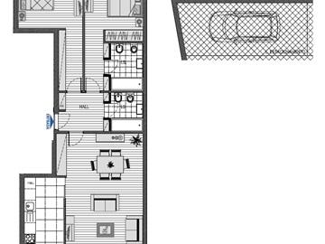 Appartement T2 / Matosinhos, Centro